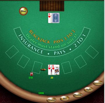 Blackjack advice game