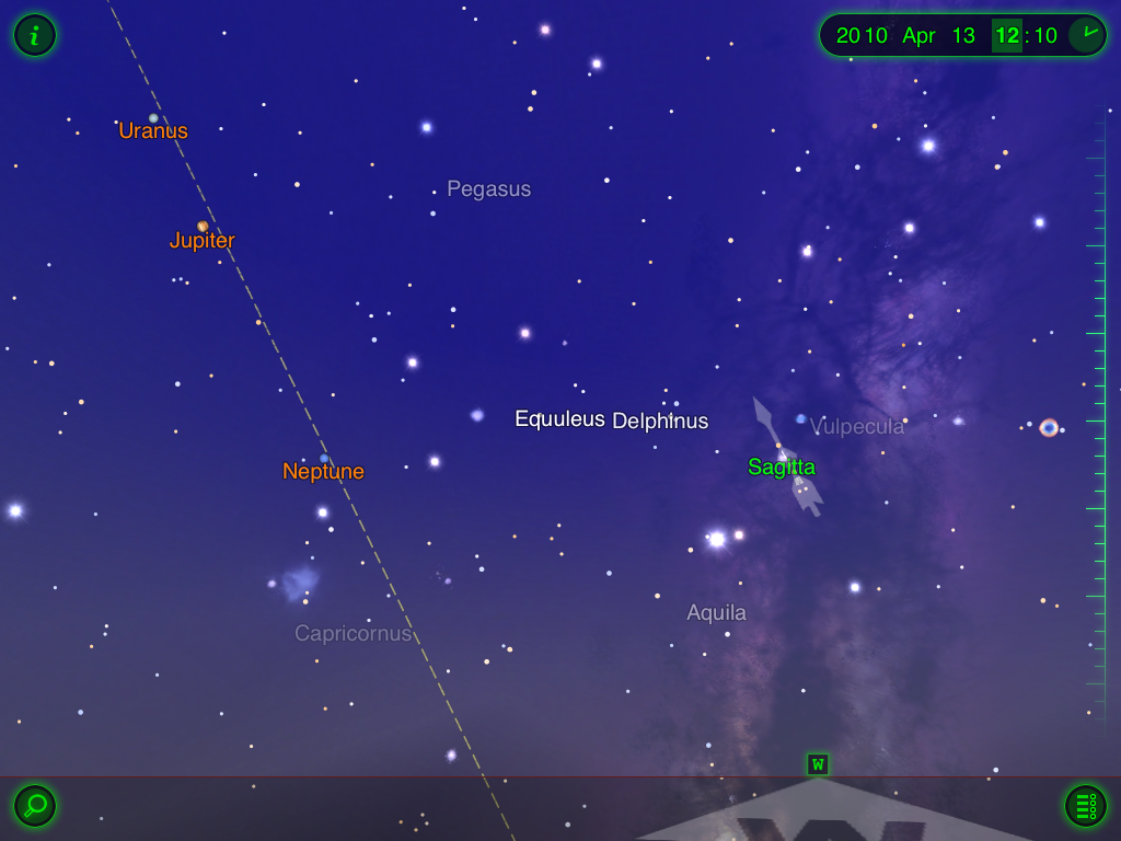 Delphinus Star Map