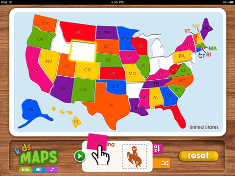 Kids Maps Is Designed Specifically For Young Children 2 It Not Only Gets Them Familiar With Basic Geography Through Games It Improves Their Shape And