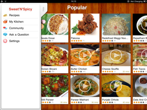 Sweetnspicy indian video recipesipad app finders sweetnspicy indian video recipes is an awesome application for ipad that shows you who to make spicy and sweet indian dishes at home forumfinder Images