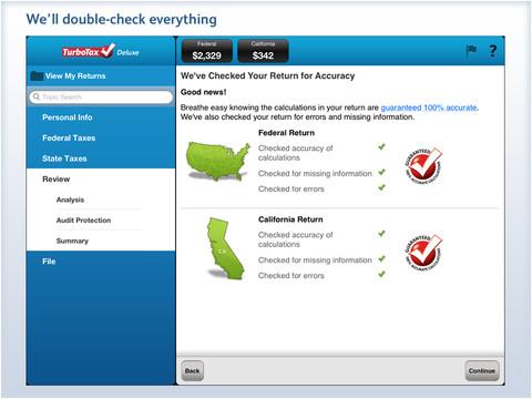 TurboTax 2012 Tax PreparationiPad App Finders
