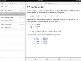 Calca: Symbolic Calculator for iPad