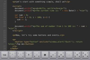 Kodiak JavaScript for iPad