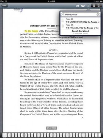 U.S. Constitution: Analysis and Interpretation for iPad