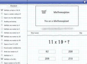 Mathemagics Mental Math Tricks App for iPad
