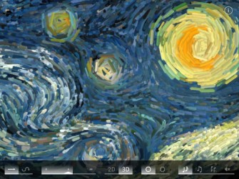 Starry Night Interactive Animation for iPad