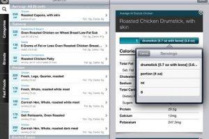 CalorieKing Food Search for iPad