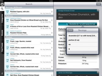 CalorieKing Food Search for iPad