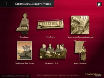 Congressional Moments for iPad