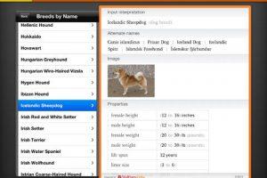 Wolfram Dog Breeds Reference iPad App