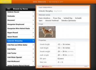Wolfram Dog Breeds Reference iPad App