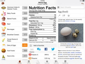 Foodle – Nutrition Facts for iPad