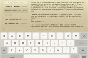 Notefile for iPad