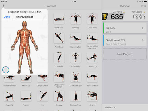Virtual trainer trx suspension for ipadipad app finders virtual trainer fandeluxe Images