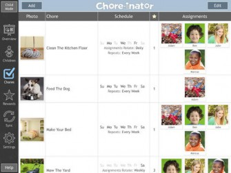 Chore-inator for iPad