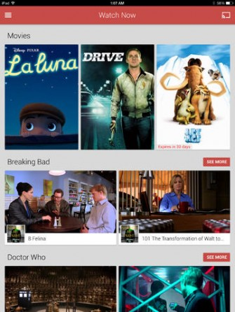 Google Play Movies & TV for iPad