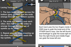 Ian's Laces HD for iOS – How to Tie & Lace shoes
