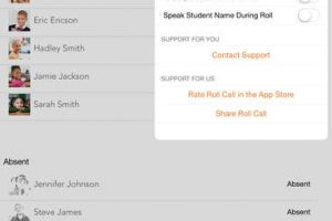 Roll Call iPad App for Teachers