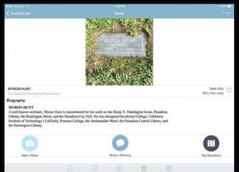 Tombfinder App for iPad & iPhone