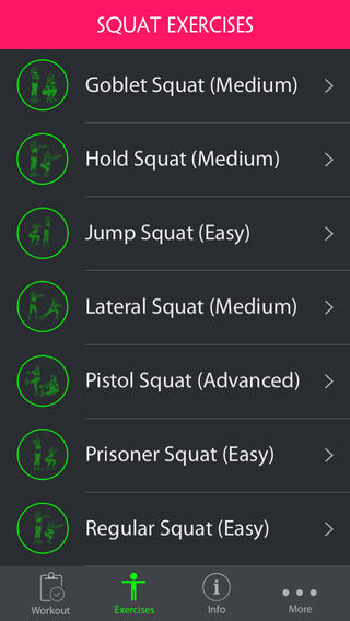 3 Squat Trainers for iPad