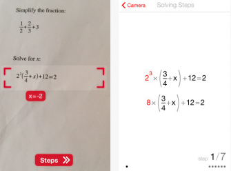 PhotoMath: Math Camera for iPhone & iPad
